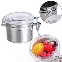 airtight canisters - Home Kitchen Stainless Steel Airtight Sealed Canister Dry Food Container MTY3