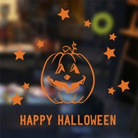 home decoration - christmas halloween supplies pumpkin bar home decoration festival wall stickers home decor