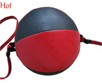 Wholesale Boxing Speed Ball Guaranteed workout Equipment Punching Ba Gear Leather Speed Exercise Body Building Fitness Speed Balls Double End TK0931