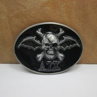 bat wings costumes - Classic Gothic Vintage Europe bat wings one eyed Terror Skull Metal Belt Buckle Ghost Rider fashion novelty Jeans accessories