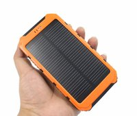 Wholesale 20000mah Portable Waterproof solar power bank Dual USB Solar Battery Charger for iPhone Android smart phone iPad GPS camera