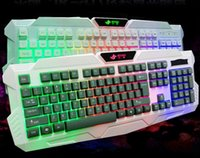 computer keyboard - For keyboards JK Computer Cable Colour Backlit Game Mechanical Feel Light Luminous Health Plate Key High Quality Gift