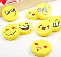 Wholesale 2 CM smiley face eraser creative expression eraser cartoon eraser new hot