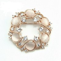 Wholesale 407 Romantic Exoticism Personalize Design Opal Crystal Women Wreath Brooches X244