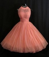 Mini Dress for Spring online - China 2016 Vintage Short Coral Bridesmaid dresses Uk Pleated Tulle Junior Bridesmaid Gowns Dress For Girls Brides Maid Dresses