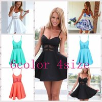 Casual Dresses bodycon dress - 2015 summer color women Print dress hollow out sexy chiffon sleeveless dress spaghetti strap dresses bodycon dresses LJJF95