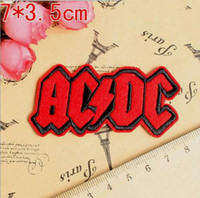 band patches wholesale - 2 inch Hot Sale Rock Music Band AC DC Embroidered Iron On Patches Applique Badge sew on patch GP punk