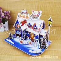 Wholesale Christmas House D three dimensional jigsaw puzzle piggy children Christmas gifts Christmas gifts decoration supplies