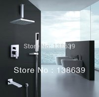 Wholesale Luxury Brass Bath Shower Set rainfall tub in wall wall mounted shower faucet shower taps