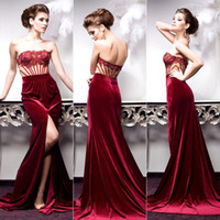 Burgundy Velvet Dress For A Fall Wedding Cheap wedding dress Best