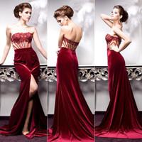 Burgundy Velvet Dress For A Fall Wedding Cheap wedding dress Best