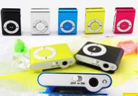 al por mayor cajas metálicas baratas-Reproductor de MP3 del clip Mini sin pantalla - Soporte de tarjeta Micro TF / SD (1-16GB) 2015 barato Sport Style metal MP3 MP3 MP3 MP4 w / Retail Box