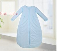 Cheap Wholesale-Hot sale long sleeping bag pajamas new autumn winter slumber sack for 6 months to 4 years old