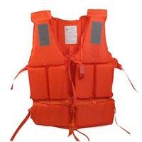 Wholesale Adult Foam Swimming Buoyancy Aid Sailing Kayak Life Jacket Vest Whistle Orange