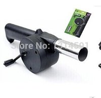 Wholesale Air Blower For Barbecue Fire Bellows Hand Crank Brand New Barbecue tools Cooking Ferramentas para churrasco Sopradores
