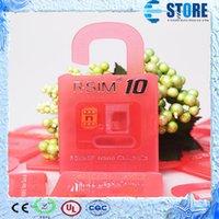 Wholesale R SIM RSIM R SIM r sim10 Unlock Card unlock iphone plus iphone s s IOS8 ios x AT T T mobile Sprint WCDMA GSM CDMA wu
