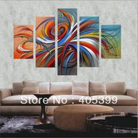 apartment paintings - Modern Apartment Home Decoration Painting Wall Art Real Handmade Oversized Modern Oil Painting On Canvas Love Art JYJLV122
