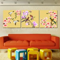 african birds pictures - Hot Sell Panels New Kind Art Birds On The Tree Together With Flowers Canvas Art Deco Famous Artists Modern African Painting