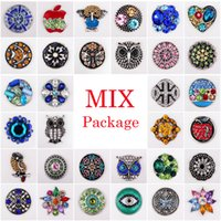 bag button - Vocheng Noosa Clearance Sale Mix Sales bag Random Choice18mm Crystal Snap Button Accessories Vn