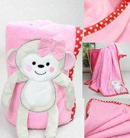 TuTu polar fleece blanket - Summer Spring polar fleece baby Blanket quilts D Animal embroidery Baby Boy Girl throws swaddling Bedding sheets