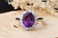 act mixes - Natural amethyst silver ring Ms Fashionable OL crystal act the role ofing is tasted