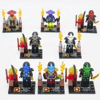 Wholesale DHL DLP9008 Ninja Kai Jay Cole Zane WU Minifigures Movies cartoon building Blocks Sets Bricks Toys For Children