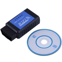 apple diagnostic - High Quality pc OBDII OBD2 ELM327 Interface WiFi Wireless Diagnostic Scanner For Apple For iPhone new