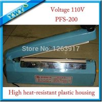 Wholesale quot PFS200mm V impulse sealer Heat plastic bag Sealer impulse sealing machine suitable for heat shrink packing