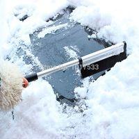 Cheap Retractable Rotation Mini Black Auto Car Vehicle Snow Ice Shovel Scraper Removal Clean Tool