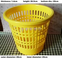 Wholesale thicken yellow European style hollow out high capacity home use or office use trash can waste bins