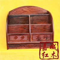 bamboo file cabinets - Rosewood data folder storage box bookshelf file cabinet mahogany carving wood crafts ornaments