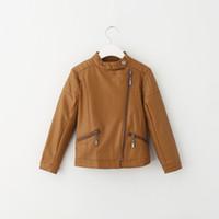 kids leather jackets - 2015 Hot Sell Kids Pu Leather Jackets Outwears Motorcycle Slide Zipper Jacket Western Fashion Children s Boys Girls Winter Warm Outwear