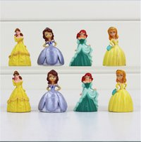 bella kids - Princess Sofia Bella Q Version Mini PVC Action Figure Toys The Best Gift For Kids cm set