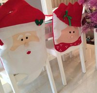 Wholesale new arrival Santa Christmas Chair Cover X mas Mr and Mrs sofa chair cover Christmas gift