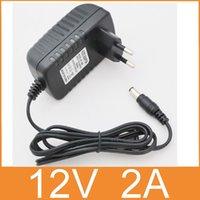 Wholesale V2A AC V V Converter Adapter DC V A mA Power Supply EU Plug mm x mm for LED CCTV