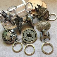 Wholesale 2016 Hot Star Wars Spaceship Keychain Euro American Movie Star Wars Ship Keychain Metal Key ring free ship