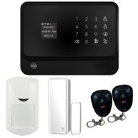 Wholesale Golden Security Touch Screen Keypad OLED Display G WIFI GSM GPRS SMS IOS Android APP Wireless Home Burglar Security Alarm System Black