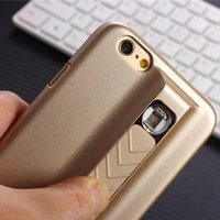 cigarette lighter case - 1PCS Luxury Iphone plus case With Cigarette Lighter Have USB Electronic Charger Function Apple Iphone Case Cover Gift Screen Protector