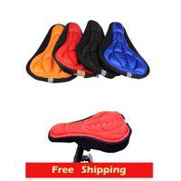 Almofada de Gel tampa de assento do ciclismo de bicicleta bicicleta sela assento cobrir 4 cor 3D confortável do Silicone
