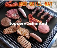 Wholesale Barbecue Grilling Liner BBQ Grill Mat Portable Non stick and Reusable Make Grilling Easy CM MM Black Oven Hotplate Mats