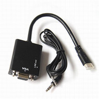 Wholesale HDMI Male to VGA Female Video Converter Adapter HD P With Audio Output For PC DVD HDTV PS3