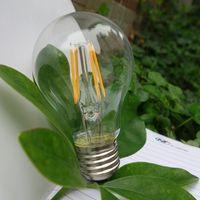 Wholesale E27 Clear Glass LED Filament Bulb V W Sapphire Chip LED Edison Light Lamp Degree Cold Warm White Long Using Time CE FCC energy savin