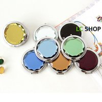 Wholesale New Various styles of fashionable women ms metal ceramic compact portable make up mirror mirror