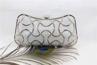 Wholesale European style luxury geometric shape shine bronzing hard case evening bag Wedding Package Chain Retro Hard Glitter Shoulder