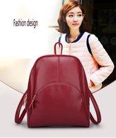 Wholesale 2016 New Arrival Latest Fashion Women Girls Genuine Leather Backpack Stylish School Shoulder Travel Bags Zipper Knapsacks