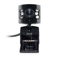 Wholesale 1 Mega USB LED Webcam Web Cam Camera with Microphone MIC for Laptop Computer Degree Rotating Head New