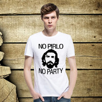 andrea green - Popular Andrea Juventus NO PIRLO NO PARTY T Shirts Men Short Sleeve Pattern t shirts Round Neck Male Sports Tee Shirt Top