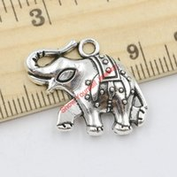 elephant charms - 10pcs Antique Silver Plated Elephant Charms Pendants for Jewelry Making DIY Handmade Craft x20mm