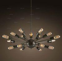 atomic room - 18 heads Atomic Starburst Light Sputnik Lamp Chandelier Mid Century Modern Eames pendant lamp suspension vintage lighting dinning room