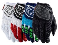 Wholesale Newest Mens Motorcycle Gloves Motocross Troy Lee Designs GP Bomber Rubber Carbon Fiber Gloves moto dirt bike Bicycle Gloves Good Quality